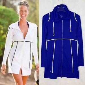 Athleta Spinnaker Sun Jacket Cover Up Blue Small